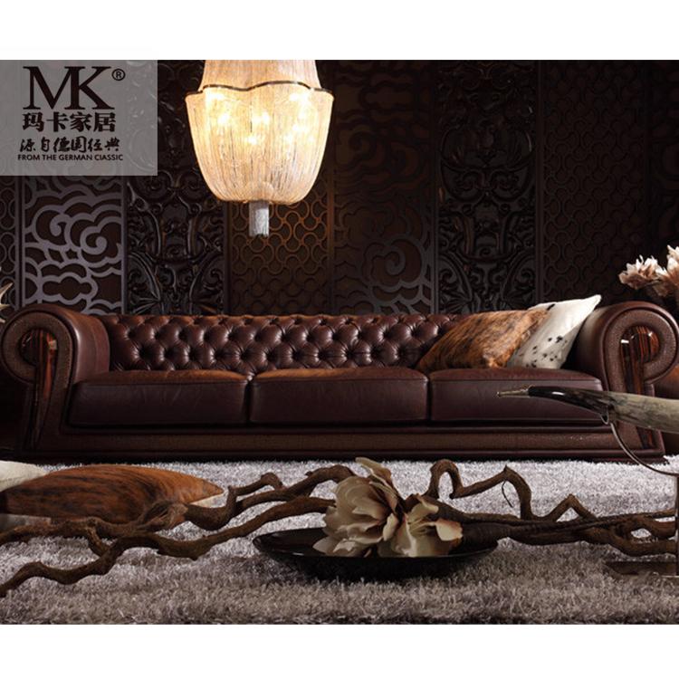 leather living room chesterfield sofa set  art