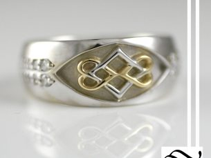 Mixed Metal Mes Knot Ring
