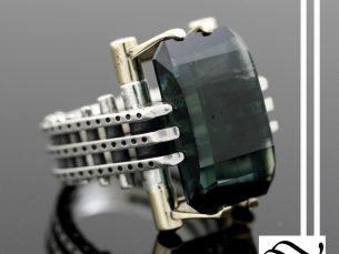 Steampunk Tourmaline Ring