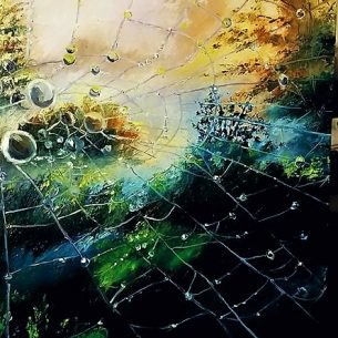 Landscape Oil Painting Spiders