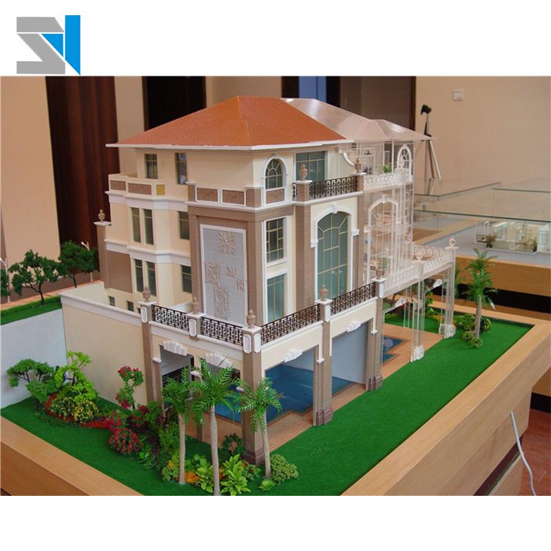 Superb-villa-house-model-making-Miniature-building3