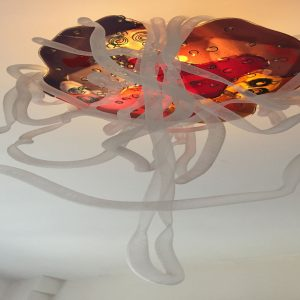 bespoke slumped glass abstract organic light