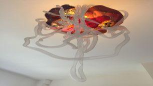 bespoke slumped glass abstract organic light