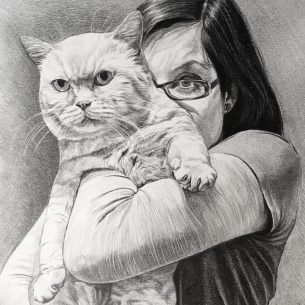 Trio of portraits of beloved cat