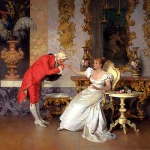 Beda Francesco (Italy): The Suitor Oil Painting Reproductions