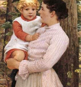 Beckwith, James Carroll(USA): Mother and Child Oil Painting Reproductions