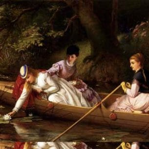 Brooks, Thomas(UK): Thames Lilies Oil Painting Reproductions