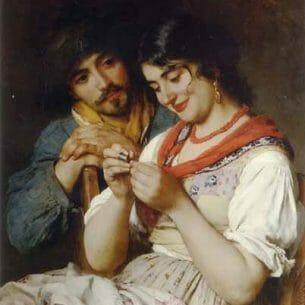 Blaas, Eugene de(Austria): The Seamstress