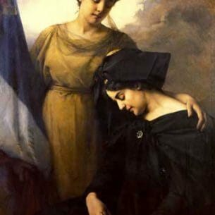 Benner, Emmanuel(France): The Loss of Alsace Lorraine Oil Painting Reproductions