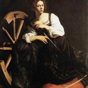 Caravaggio, Michelangelo Merisi da:St. Catherine of Alexandria Oil Painting Reproductions