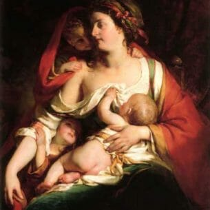 Amerling, Friedrich von: Mother and Children Oil Painting Reproductions