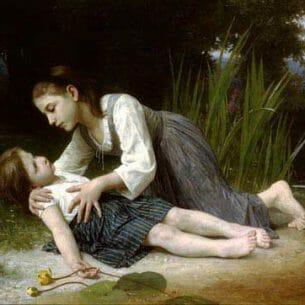 Bouguereau, Elizabeth Jane Gardner: The Imprudent Girl Oil Painting Reproductions
