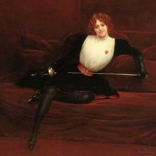 Beraud, Jean(France): The Swordswoman Oil Painting Reproductions
