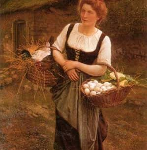 Boulanger, Gustave Clarence Rodolphe(France): The Farm Girl Oil Painting Reproductions