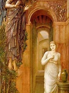 Burne-Jones, Sir Edward Coley(UK): The Annunciation Oil Painting Reproductions