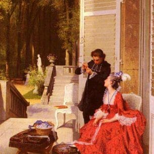 Caraud, Joseph(France): The Obliging Abbe Oil Painting Reproductions