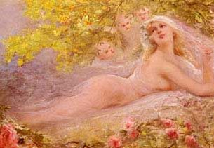 Clairin, Georges Jules Victor(France): A Bride's Fantasy Oil Painting Reproductions