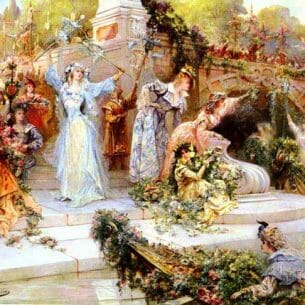 Clairin, Georges Jules Victor(France): The Flower Festival Oil Painting Reproductions
