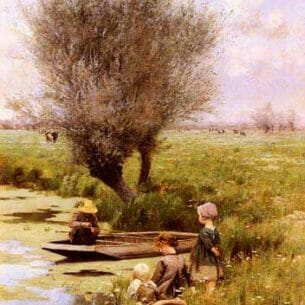 Claus, Emile(Belgium): Afternoon Along The River Oil Painting Reproductions