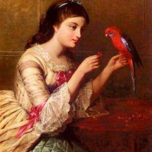 Cobbett, Edward John(USA): An Attentive Friend Oil Painting Reproductions