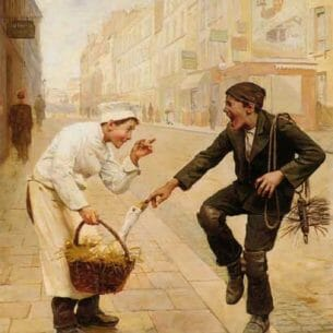 Chocarne-Moreau, Paul Charles(France): The Unexpected Surprise Oil Painting Reproductions