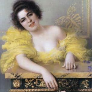 Corcos, Vittorio(Italy): Portrait of a Young Woman Oil Painting Reproductions