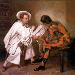 Couture, Thomas(France): Pierrot the Politician Oil Painting Reproductions