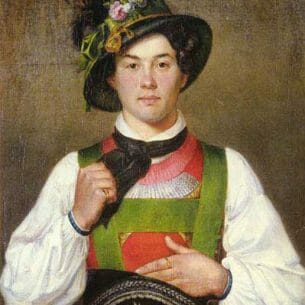 Defregger, Franz Von(Austria): A Young Man In Tyrolean Costume Oil Painting Reproductions