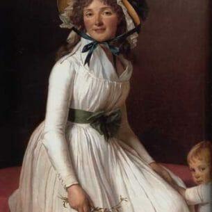 David, Jacques-Louis(France): Portrait of Madame Seriziat Oil Painting Reproductions