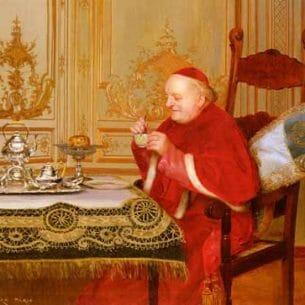 Croegaert, Georges(Belgium): Teatime Oil Painting Reproductions