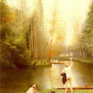 Croegaert, Georges(Belgium): Flirtation Oil Painting Reproductions