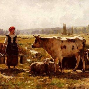 Dupre, Julien(France): The Milkmaid