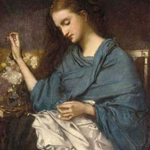 Couture, Thomas(France): Young Woman Sewing