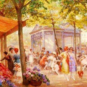Deully, Eugene Auguste Francois(France): The Flower Seller Oil Painting Reproductions