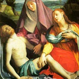 Bronzino, Agnolo(Italy): Pieta, Galleria degli Uffizi, Florence Oil Painting Reproductions