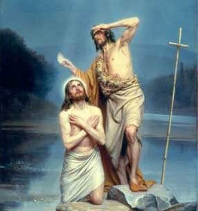 Bloch, Carl Heinrich(Danmark): The Baptism of Christ Oil Painting Reproductions