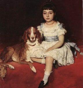 Blaas, Eugene de(Austria): Best Friends Oil Painting Reproductions