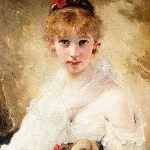 Chaplin, Charles(France): Lady with A Cat Oil Painting Reproductions