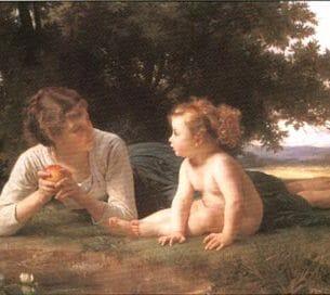 Bouguereau, William(France): Temptation