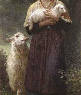 Bouguereau, William(France): The Newborn Lamb Oil Painting Reproductions