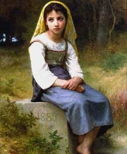 Bouguereau, William(France): Meditation Oil Painting Reproductions