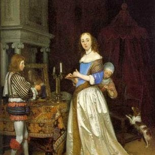 Borch, Gerard Ter(Holland): A Lady at Her Toilet