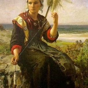 Breton, Jules: Brittany Girl Oil Painting Reproductions