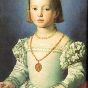 Bronzino, Agnolo(Italy): Bia, The Illegitimate Daughter of Cosimo I de' Medici Oil Painting Reproductions