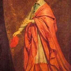 Champaigne, Philippe de(France): Cardinal Richelieu Oil Painting Reproductions