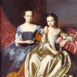 Copley, John Singleton(USA): Mary MacIntosh Royall and Elizabeth Royall Oil Painting Reproductions