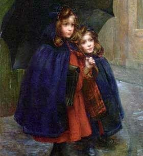 Boyer-Breton, Marthe Marie Louise: Off to School Oil Painting Reproductions