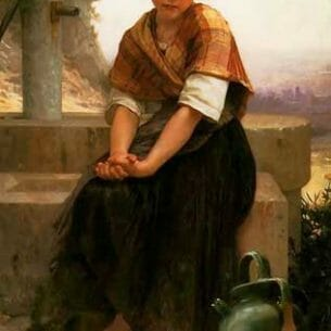 Bouguereau, William(France): The Broken Pitcher Oil Painting Reproductions