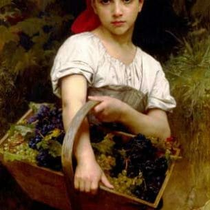 Bouguereau, William(France): The Grape Picker Oil Painting Reproductions