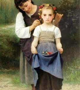Bouguereau, William(France): The Jewel of the Fields